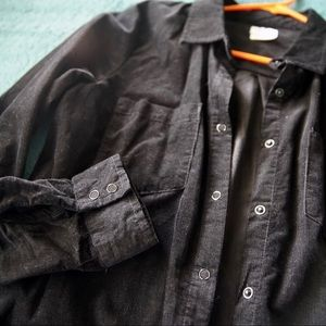 NEW RVCA corduroy long-sleeve button up